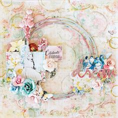 Scraps of Elegance scrapbook kits: DIY step by step mixed media layout video tutorial. Tiffany Solorio created this beautiful layout with our Aug. Mallika's Whimsy kit, and did a Youtube tutorial to show you how. Find our kits here: www.scrapsofdarkness.com