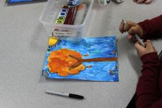 4th Grade Stained Glass Projects - Louis Comfort Tiffany - Watercolor