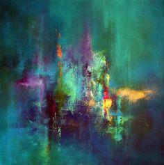 """Let It Rain"" Acrylic on deep edge canvas - ART by JT on Etsy"
