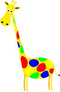 giraffe Clip Art | Free Giraffe Clip Art Sticking its Neck Out