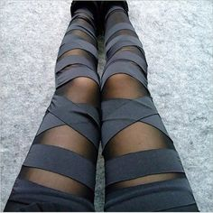 These striped tights are an awesome, versatile pair that can be worn anywhere…