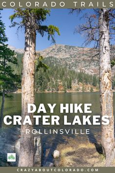 Crater Lakes is in the heart of the James Peaks Wilderness and the perfect day hike or backpacking weekend. Nestled just below the Continental Divide, the setting is unbeatable. Backpacking Trails, Hiking Trails, Travel Advise, Travel Guide, Snowboard, Mtb, Paradise Travel, Continental Divide, Colorado Hiking
