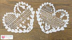 Création faire-part mariage sur-mesure - cœur brodé en dentelle papier - découpe laser ciselée - romantique, original et unique