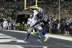Mind = blown. Seattle Seahawks receiver made the catch of the weekend, if not the season, during the Seahawks Wild Card win over the Detroit Lions. (AP/Kang)