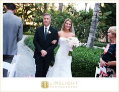 Marco Beach Ocean Resort, bride and her father, walking down the aisle, ceremony, Wedding, Limelight Photography www.stepintothelimelight.com