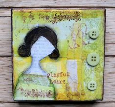 mixed media collage #art #crafts