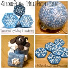 Snowflake Cane Examples & Tutorial by MegNewberg on KatersAcres Blog