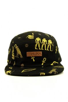 a76d792d1e4 Mishka Clothing Anubis 5-Panel Strapback Hat - Black  34.00