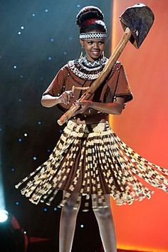 National Costume: Miss Universe Botswana 2011 Miss Angola, Miss Universe National Costume, Ethnic Diversity, African Dress, People Around The World, Traditional Dresses, Costumes, How To Wear, Beauty