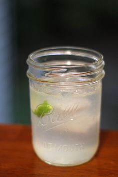 Gin Ricky// 1 shot gin  1/2 shot fresh squeezed lime juice  Seltzer water  Lime zest