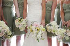 bridesmaids dresses - green by nelda