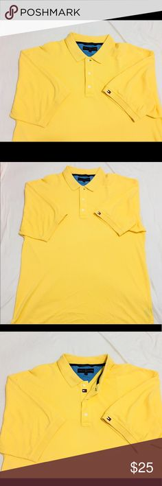 Vintage Tommy Hilfiger Men's XL Polo Yellow  #21 You Are  buying Vintage Tommy Hilfiger Men's XL Short Sleeve Polo Shirt Solid Yellow  #21  It is in great Condition.  Fast shipping in the USA via USPS.  FEEDBACK: we strive to earn positive 5 star feedback for all items. And we will leave the same for all good buyers.  If you feel we deserve anything less please send us a message before leaving anything less or opening a case and we will fix the issue within 24 hours.   Thank you!!! Tommy…