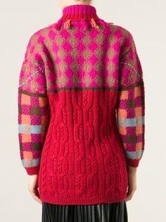 Kenzo Vintage long geometric sweater
