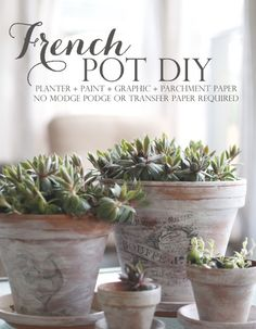 French Weathered Pot. (tutorial)