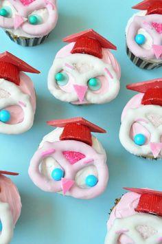 Graduation Owl Cupcakes
