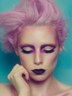 Purple hair don't care! Inspo.