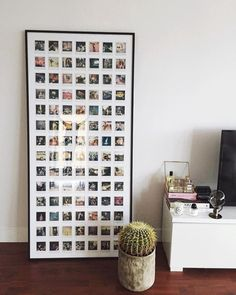 DIY Instax Polaroid Framed Collage - Instax Camera - ideas of Instax Camera. - DIY Instax Polaroid Framed Collage – Instax Camera – ideas of Instax Camera. Trending Instax Ca -