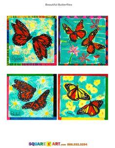 Beautiful Butterflies www.square1art.com #square1art @Square 1 Art