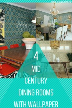 17 Styles of Dining Rooms with Wallpaper