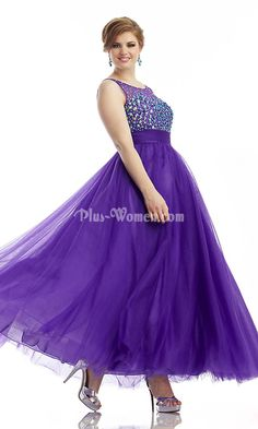 b51ca02dfca open back beaded bust purple long plus size prom dress Tight Prom Dresses
