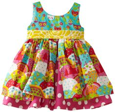 Amazon.com: Jelly The Pug Baby Girls' Happy Katy Dress, Blue/Pink, 18 Months: Infant And Toddler Dresses: Clothing