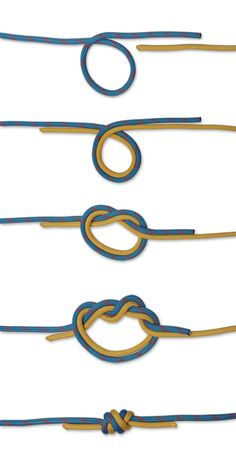 How to tie a Surgeons Knot with two lines.