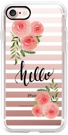 Casetify iPhone 7 Classic Grip Case - Hello - floral watercolor n.4 by Psychae #Casetify