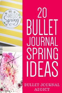 Monthly Spreads, Cover Pages, and Layouts For Spring - Bullet Journal Spring Theme Ideas - Spring Bullet Journal Inspiration and Ideas #bulletjournal #bulletjournalspreads #bujolove #bulletjournallayouts #springspreads #bujospreads #bujolayouts