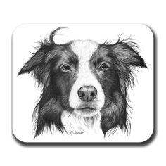 Border Collie Dog Art Mousepad