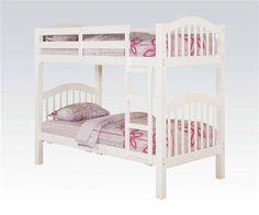 Heartland White Wood Kids Twin/Twin Bunk Bed