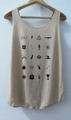 Icon Accessories Art Design Harry Tank top Pop Punk Rock Tank Top Vest Women T shirt T-Shirt SizeS,M,L