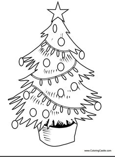 113 Free Printable Christmas Tree Coloring Pages