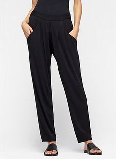 If you're looking for more of a relaxed fit, but love the styling of an athletic inspired trouser, this one from Eileen Fisher is fabulous.
