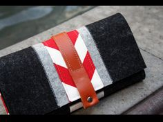Great things in this shop! Merino wool felt Iphone trifold wallet  grey by AlexMLynch on Etsy.