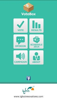 Reach out India's first mobile voting app.<p>VoteBox characterizes Indian polling system - World's Largest Democratic Election through Opinion Polls. The app acts as an online voting tool that engages user with the latest news conducted by each candidate, their social activities, promotional activities, campaigning videos and can choose a party of their choice to present their own opinion and to compare with general public trends. Thus you can be part of the political barometer for the…