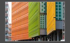 NBK glazed ceramic façade for Central St Giles project London- Renzo Piano design.