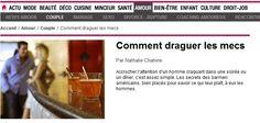 La drague pour les nuls ? http://www.meetserious.com/secrets/confidences/comment-seduire-une-femme/