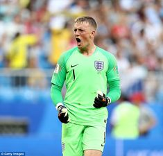 Jordan Pickford continued his hot form in the England goal against Sweden on Saturday England National Football Team, National Football Teams, England Football, England Goals, England Players, Everton, Goalkeeper, Football Players, Lions