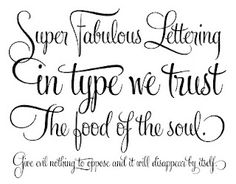 Nice thoughts in nice lettering.
