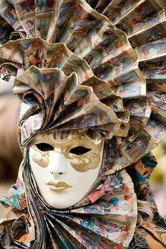 Beautiful fan-shaped headdress and mask