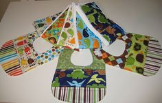 Bibs and burp cloths set---gotta try this sometime