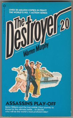 For sale the destroyer book 20 assassins playoff warren murphy richard sapir pinnacle books 1975 october 1980 fifth printing out of print paperback remo williams master chiun emorys memories. Fiction Books, Assassin, Cover Art, Battle, Korea, October, Journey, Printing, Play