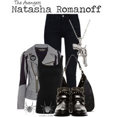 Natasha Romanoff by charlizard on Polyvore featuring NIC+ZOE, Junya Watanabe, STELLA McCARTNEY, Yves Saint Laurent, Ella Moss, La Preciosa and yuki nagao