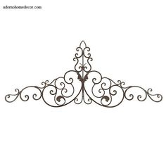 Large Tuscan Wrought Iron Metal Wall Decor Rustic Antique Garden Indoor Outdoor for sale online Wrought Iron Wall Decor, Rustic Wall Decor, Metal Wall Decor, Metal Wall Art, Decorating Stairway Walls, 3d Wall Art, Wall Décor, Fence Art, Mediterranean Home Decor
