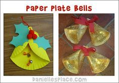 Paper Plate Bell Craft from www.daniellesplace.com
