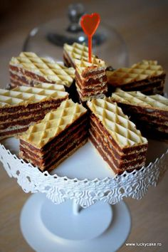 My Mama makes the best! Sweets Recipes, No Bake Desserts, Baking Recipes, Cake Recipes, Romanian Desserts, Romanian Food, Romanian Recipes, Waffle Cake, Galletas Cookies