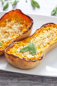 Twice Baked Butternut Squash | Recipe Runner | Sweet roasted butternut squash made creamy and flavorful with goat cheese and sage! /explore/thanksgiving/