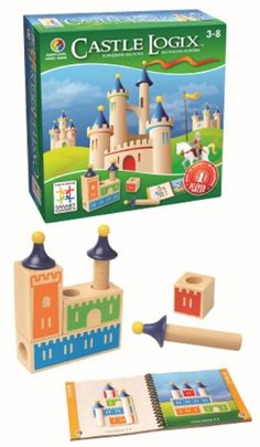 Castle Logix : A challenging block stacking toy that requires sophisticated spatial planning/reasoning. Age 3+