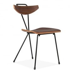 Sapphire Chair With Walnut Plywood Seat - Black