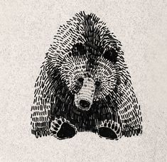 animals by Olga Gamynina, via Behance FABULOUS mark making technique